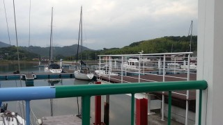 桟橋付き別荘地